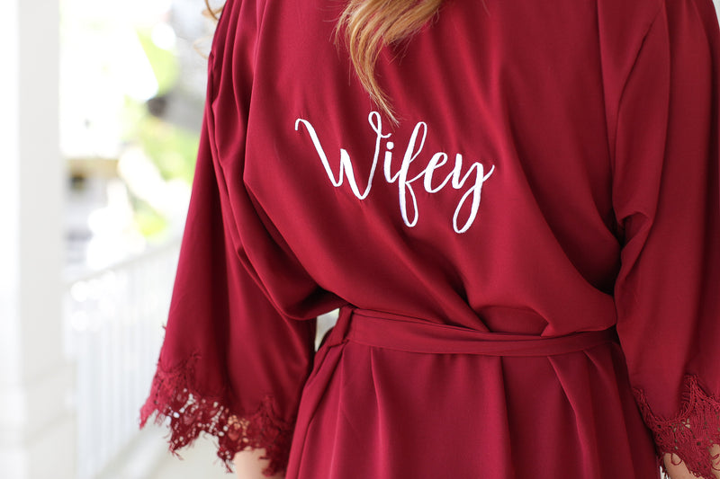 Burgundy Bridesmaid Robes, Bridesmaid Lace Robes, Lace Bridal Robes, Bridal Party Robes, Bridal Party Robes, Bridesmaid Gifts, Bridesmaid Robe
