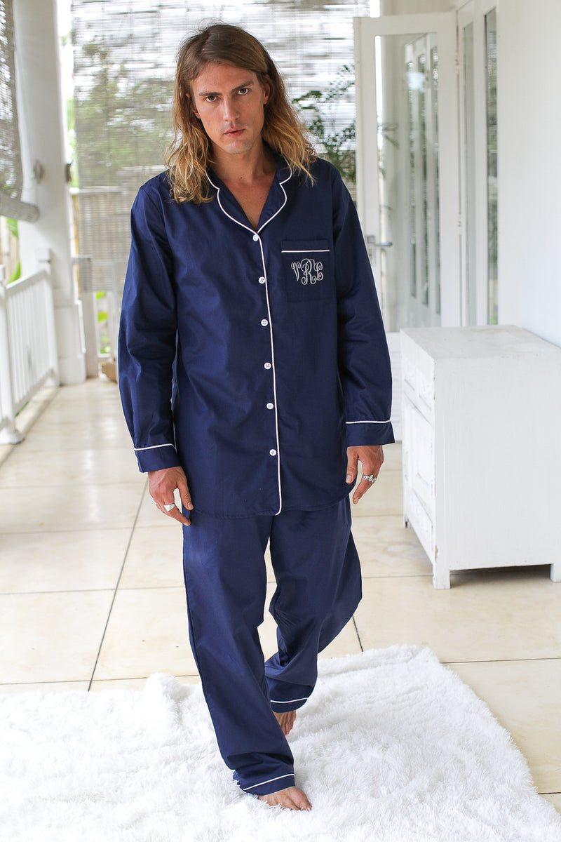 Chicago Men's Cotton Pajamas Set
