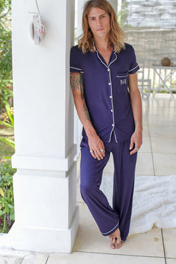London Men's Jersey Pajama Set