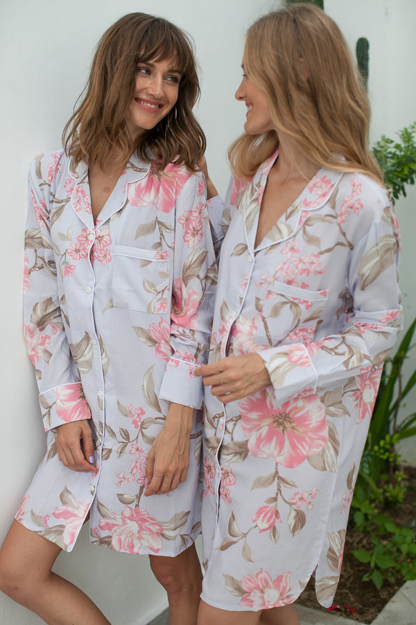 Floral Sleepshirts Bridesmaid Shirts, Bridesmaid shirt, bridesmaid shirts, bridal party shirts, cotton sleepshirt,oversized bridesmaid shirts,monogrammed shirt