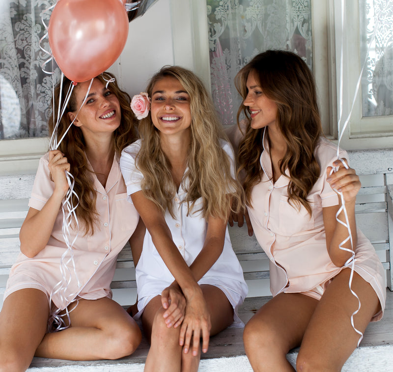 Olivia Crepe Pajama Set in Blush