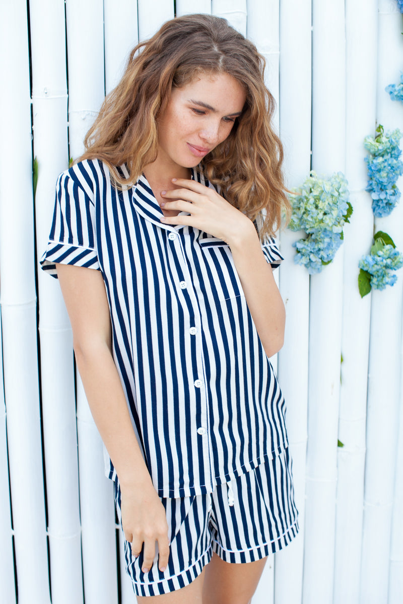 Charlotte Striped Pajama Set