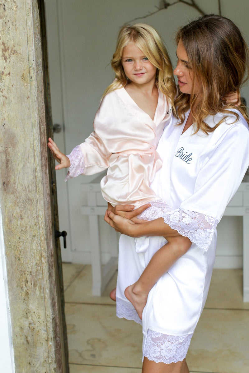 Annie Satin Flower Girl Robe