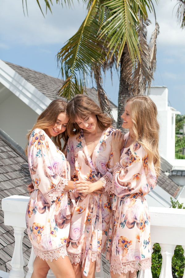 Bridesmaid Robes // Robe // Bridal Robe // Bride Robe // Bridal Party Robes // Bridesmaid Gifts // Cotton Robe // Lace Bridal Robe
