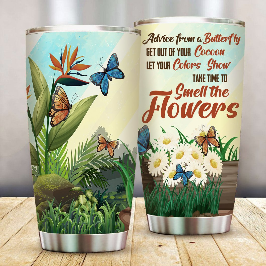 Advice from a Butterfly Stainless Steel Tumbler