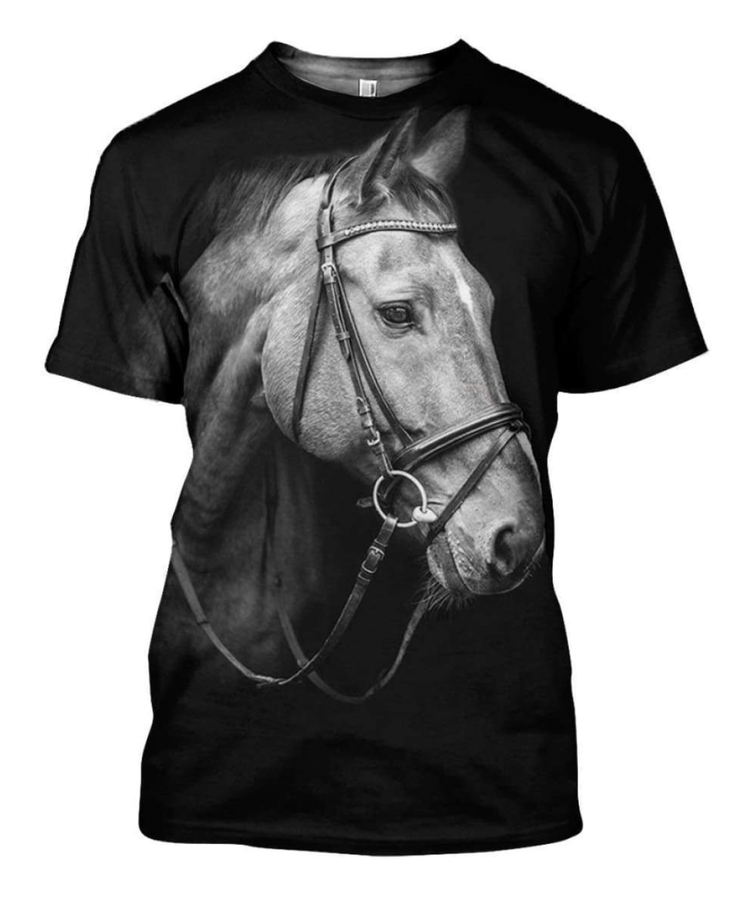 Champion 3D Horse Printed T-Shirt