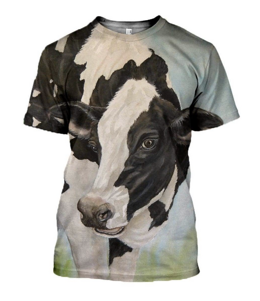 Dairy Cow 3D Printed T-Shirt