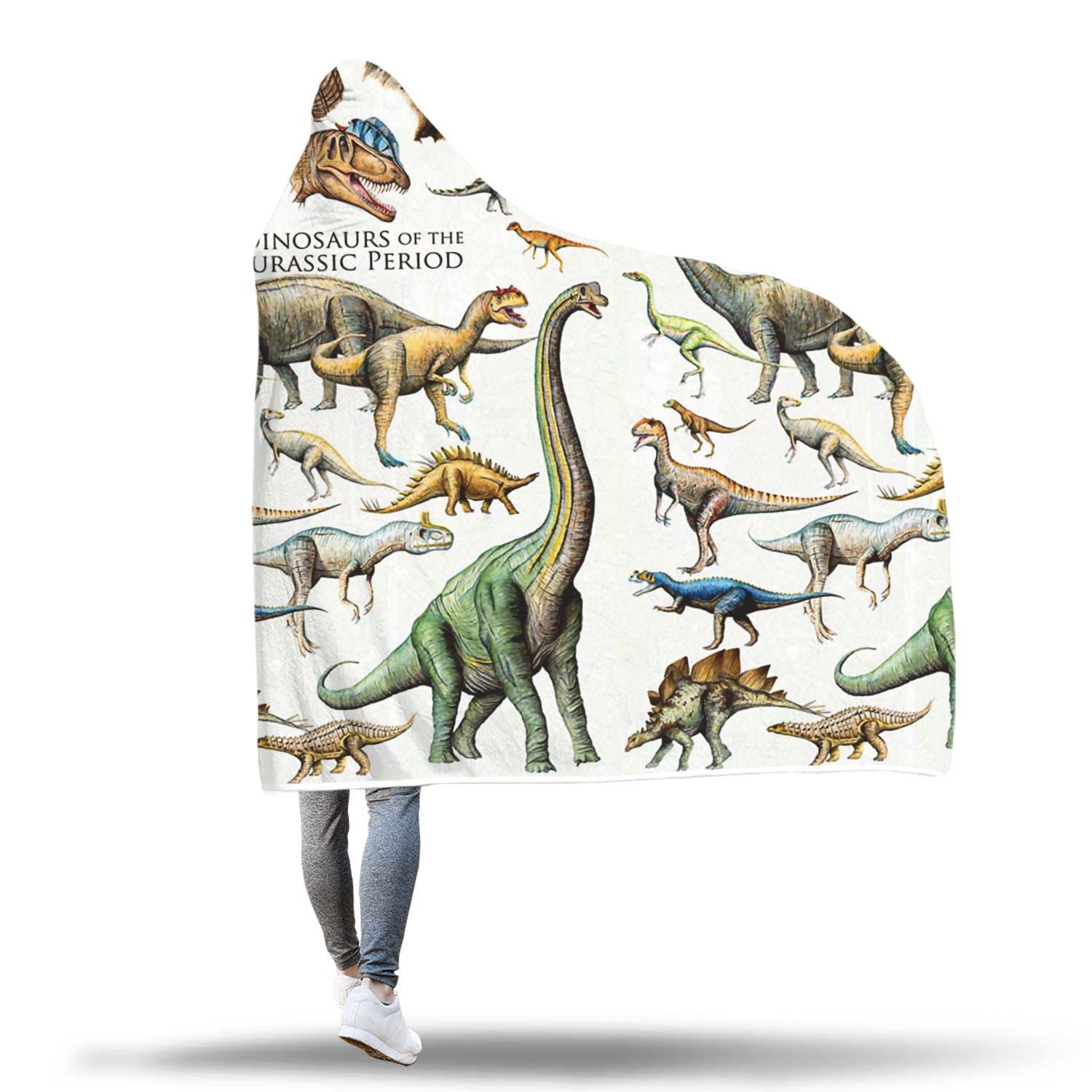 Dinosaurs of the Jurassic Period 3D Hoodie Blanket