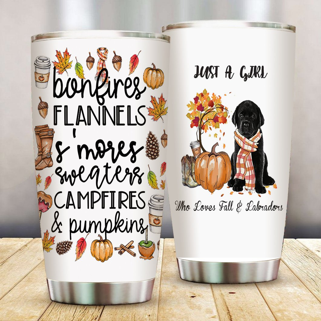 Fall and Labradors Stainless Steel Tumbler