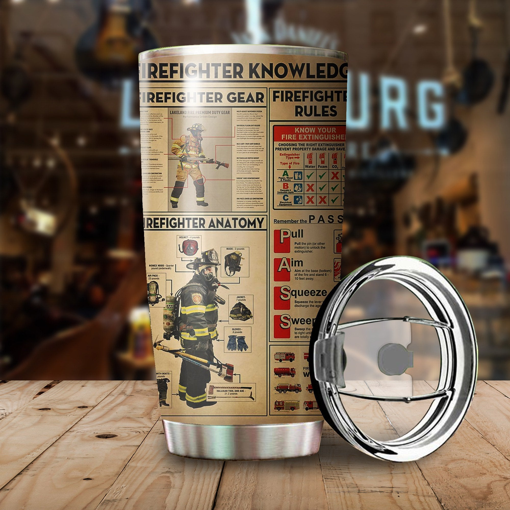 Fire Fighter Knowledge Stainless Steel Tumbler