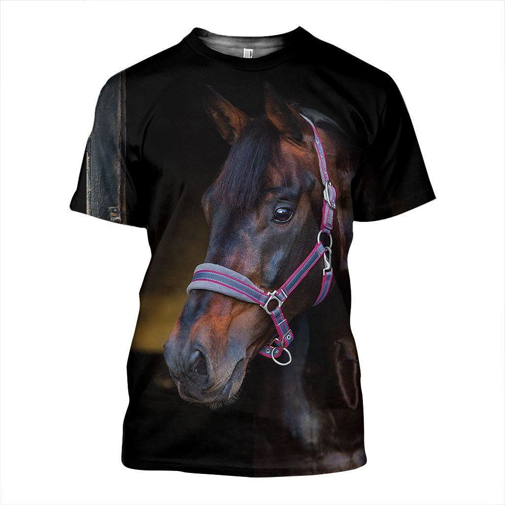 Brown Beauty 3D Horse Printed T-Shirt