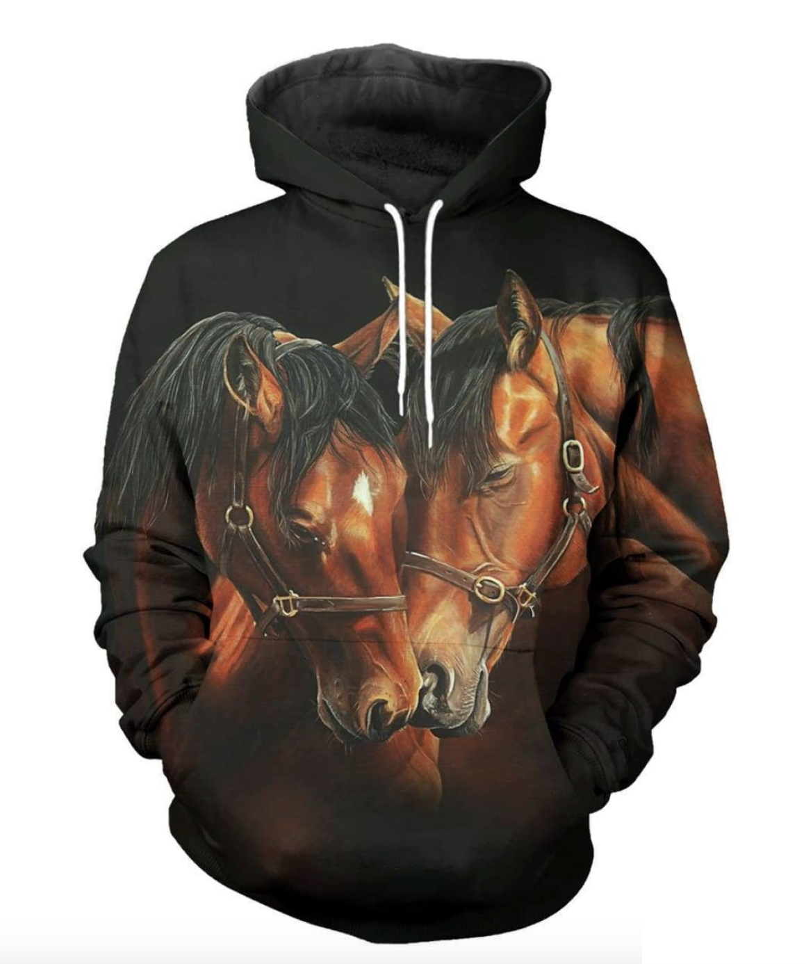 Horse and Mare 3D Hoodie