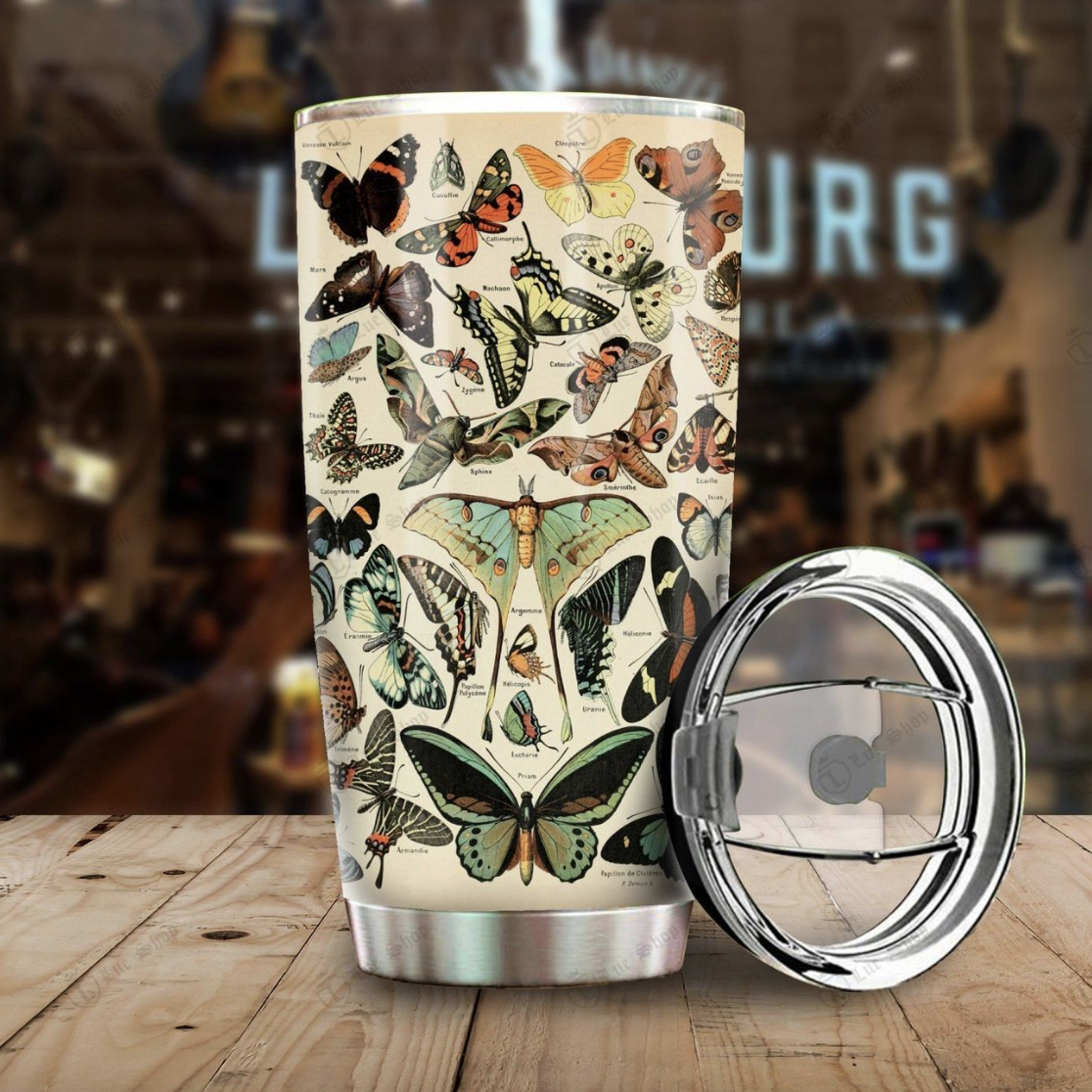 Butterfly Breeds Stainless Steel Tumbler
