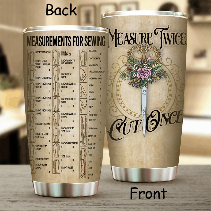 Measure Twice Stainless Steel Tumbler