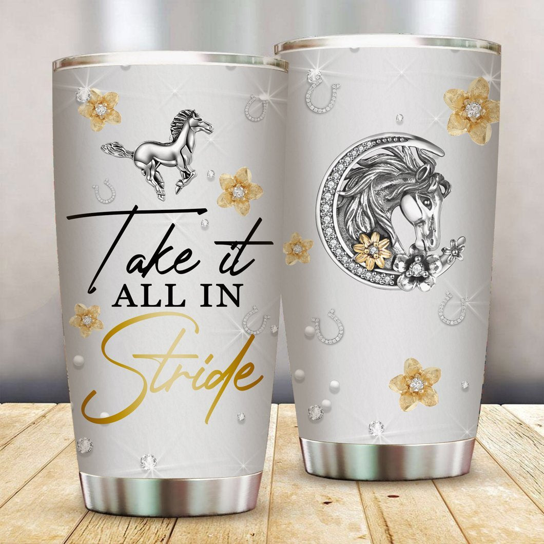 Take It All In Stride Stainless Steel Tumbler