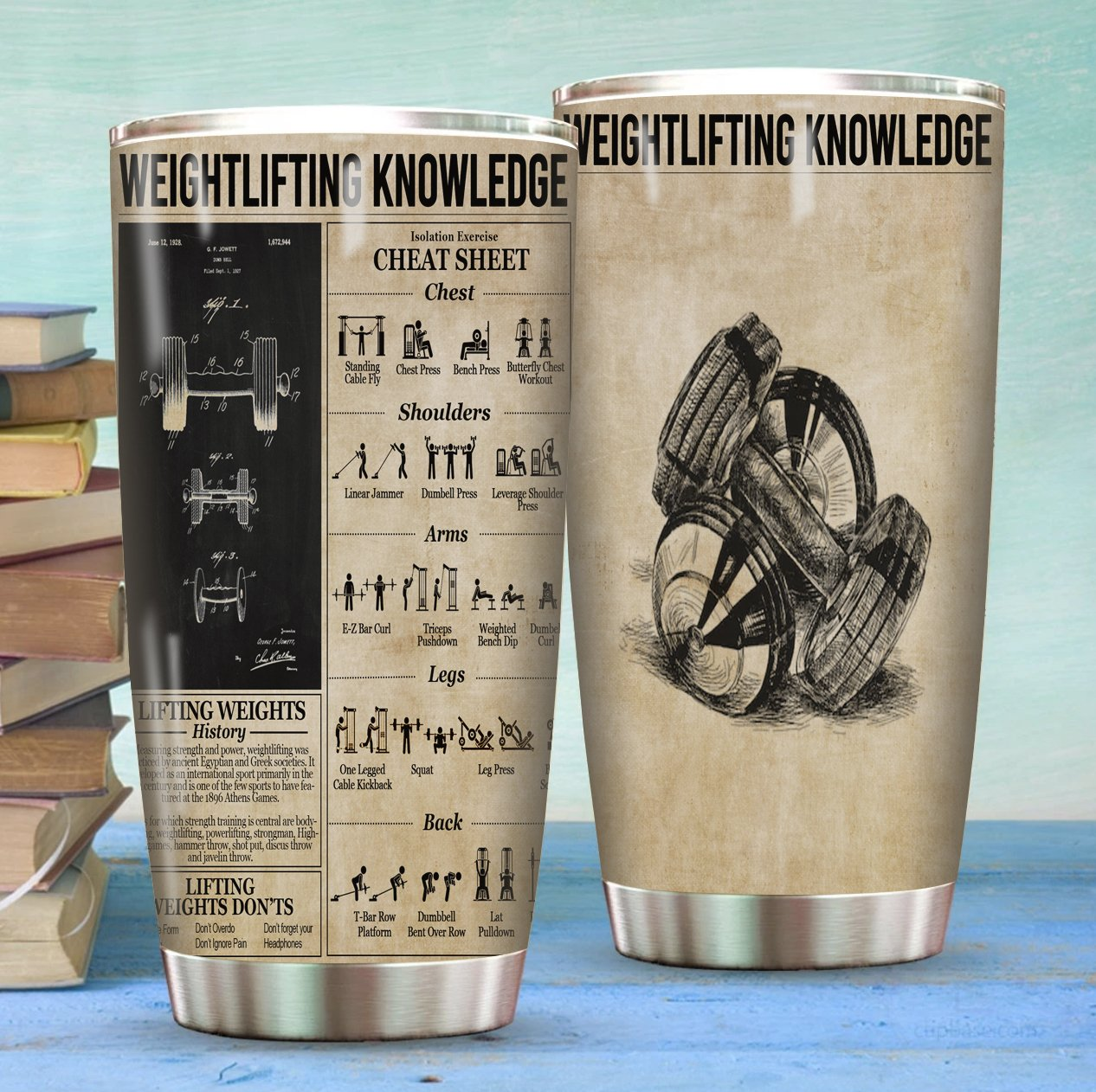 Weight Lifting Knowledge Stainless Steel Tumbler