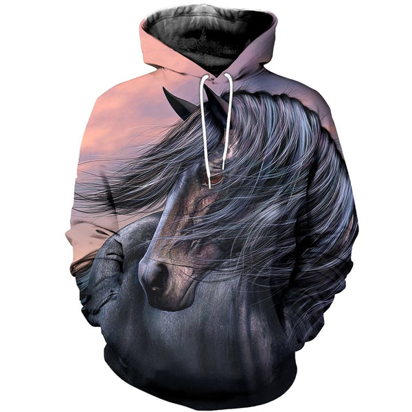 Black Beauty Horse 3D Printed Hoodie