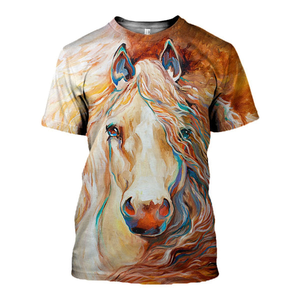 Unbridled Horse 3D Printed T-Shirt