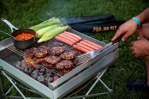 Pop Up Pit Tri-Fold Portable Grilling Grates