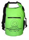 Waterproof Dry Bag with 2 Adjustable Straps - Zippered Waterproof Front Pocket and Mesh Bottle Carrier