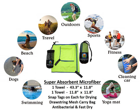 Microfiber Towel Set - DreampowerOutdoors.com