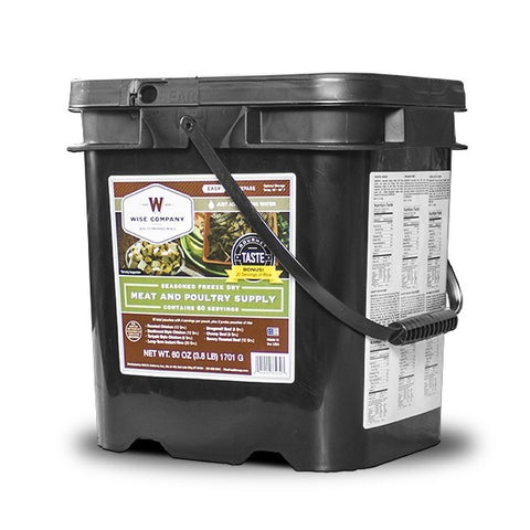 60 Serving Wise Meat Bucket - Shipping Included