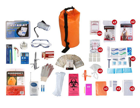 2 Person Elite Survival Kit (72+ Hours) - Waterproof Dry Bag