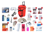 4 Person Elite Survival Kit (72+ Hours) - Red Wheeled Bag