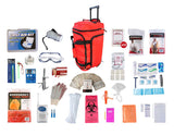 1 Person Elite Survival Kit (72+ Hours) - Red Wheeled Bag