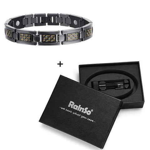 Men Bio Energy Titanium Magnetic Bracelet