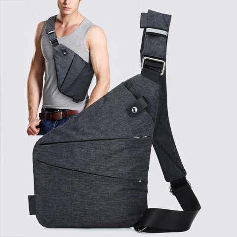Men Canvas Chest Bag