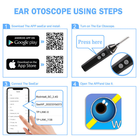 1080P Wireless Ear Scope