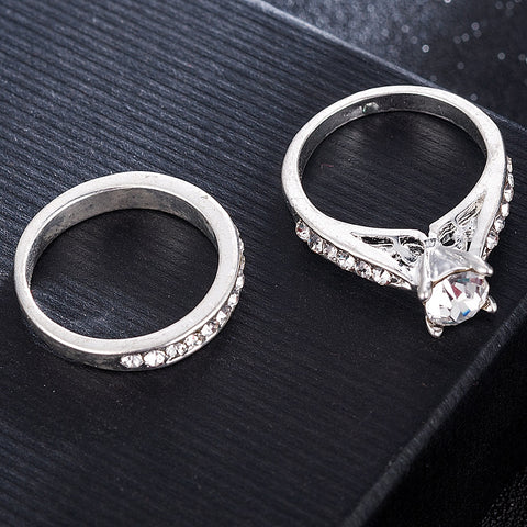 2Pcs/Set Charm Lovers Ring