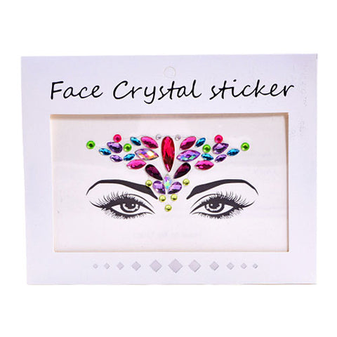 Festive Face Crystal Stickers