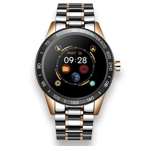Men Sport Smart Watch Stainless Steel Band
