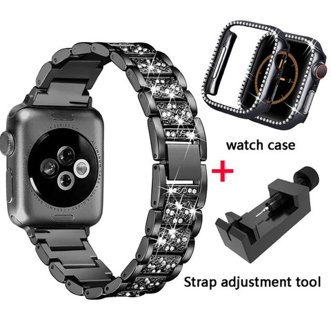 Diamond Case and Band for Apple Watch