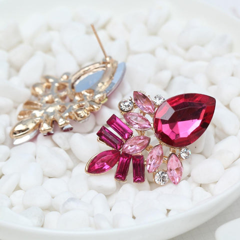 Handmade Rhinestone sweet stud crystal earrings