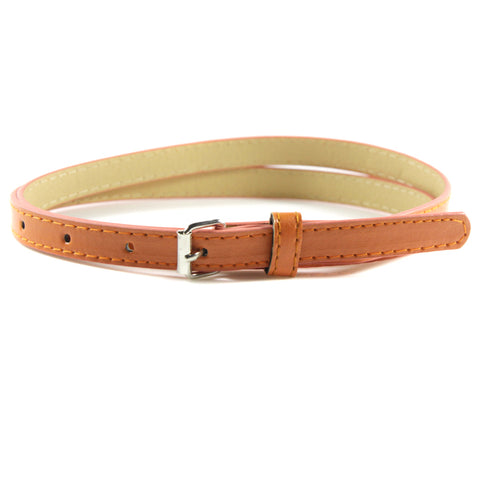 Leather Belts Candy Color