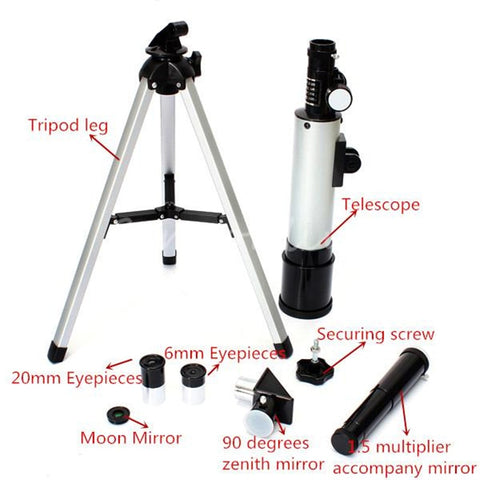 360/50mm Monocular Outdoor Telescope with Portable Tripod