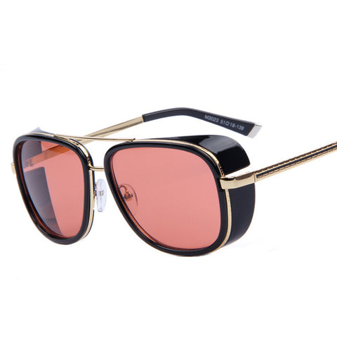 TONY Steampunk Sunglasses Men Mirrored Designer