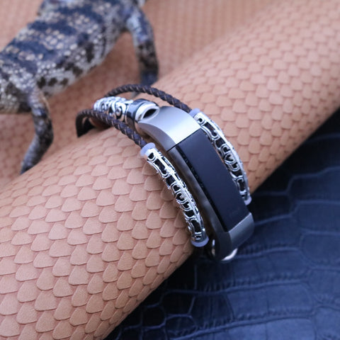 Leather Bracelet for Fitbit