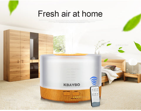 500ml Remote Control Aroma Essential Oil Diffuser Ultrasonic Air Humidifier