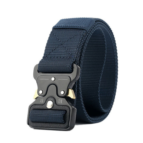 Men Outdoor Training Belt with Cobra Buckle