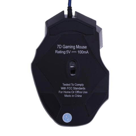 5500DPI LED Optical USB Wired Gaming Mouse 7 Buttons