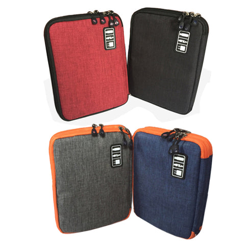 Waterproof Double Layer Travel USB Cable Organizer Storage Bag