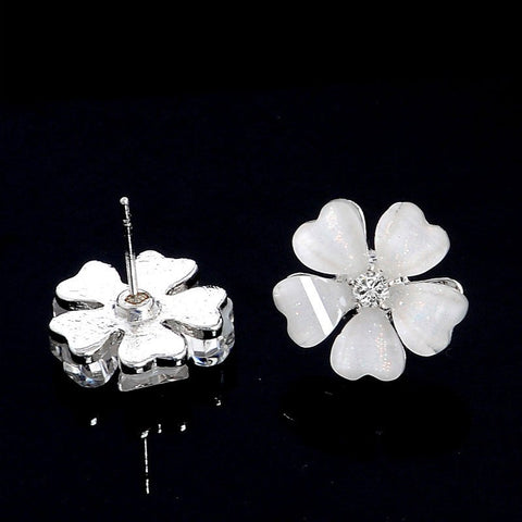 Crystal Flower Stud Earrings