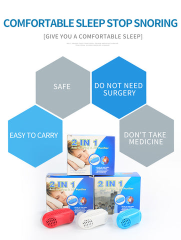 2 in 1 Anti Snoring & Air Purifier