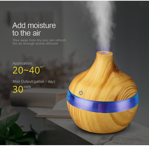 300ml Electric Aroma Diffuser Ultrasonic Humidifier