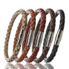 Image of Men Braided Leather Bracelet Slim