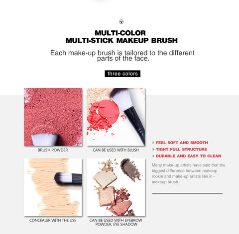 7pcs/set Fiber Blusher Makeup